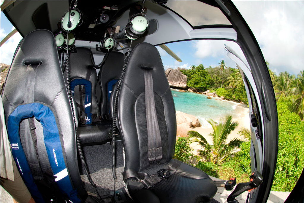 seychelles interieur helicoptere