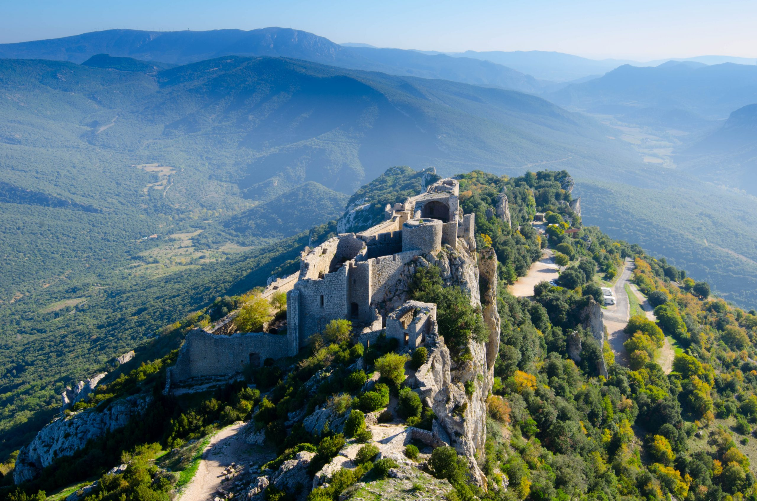 sightseeing flightover the Cathar castles in helicopter   Helipass ...